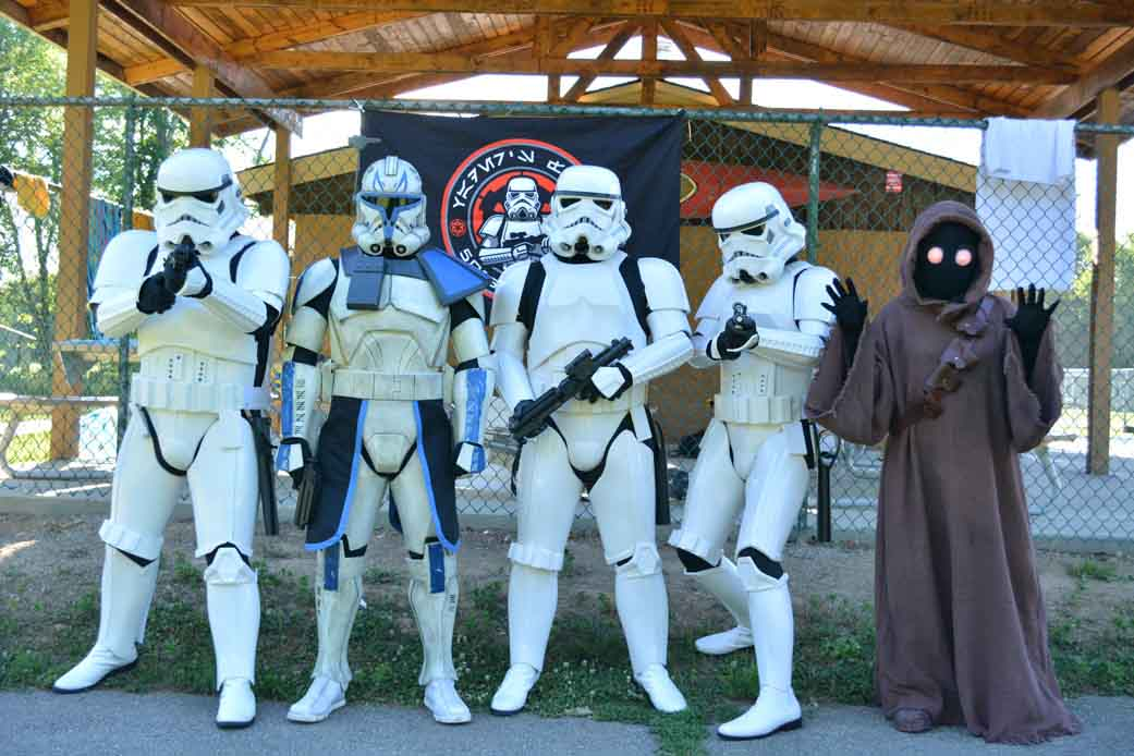 Star Wars Characters Dressed Up at Themed Camp